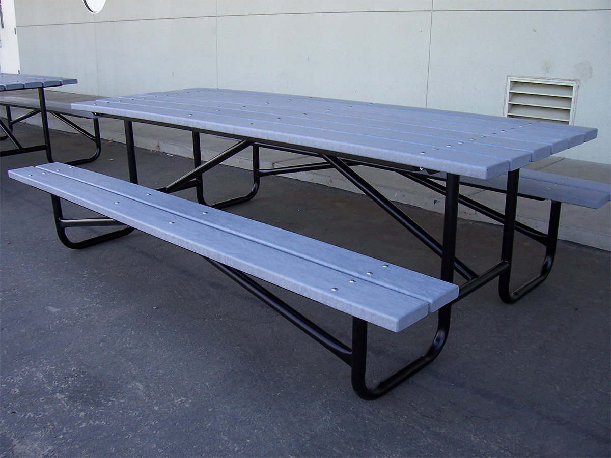 Plastic Tables Recycled Plastic Picnic Table - 96 picnic table