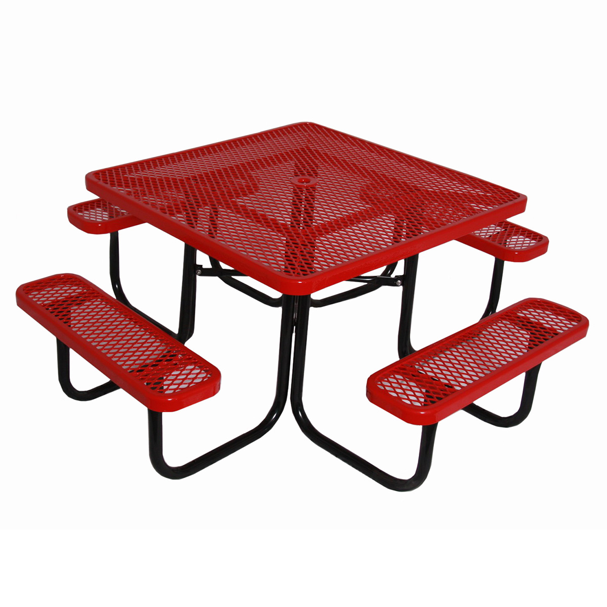 Expanded metal picnic table square
