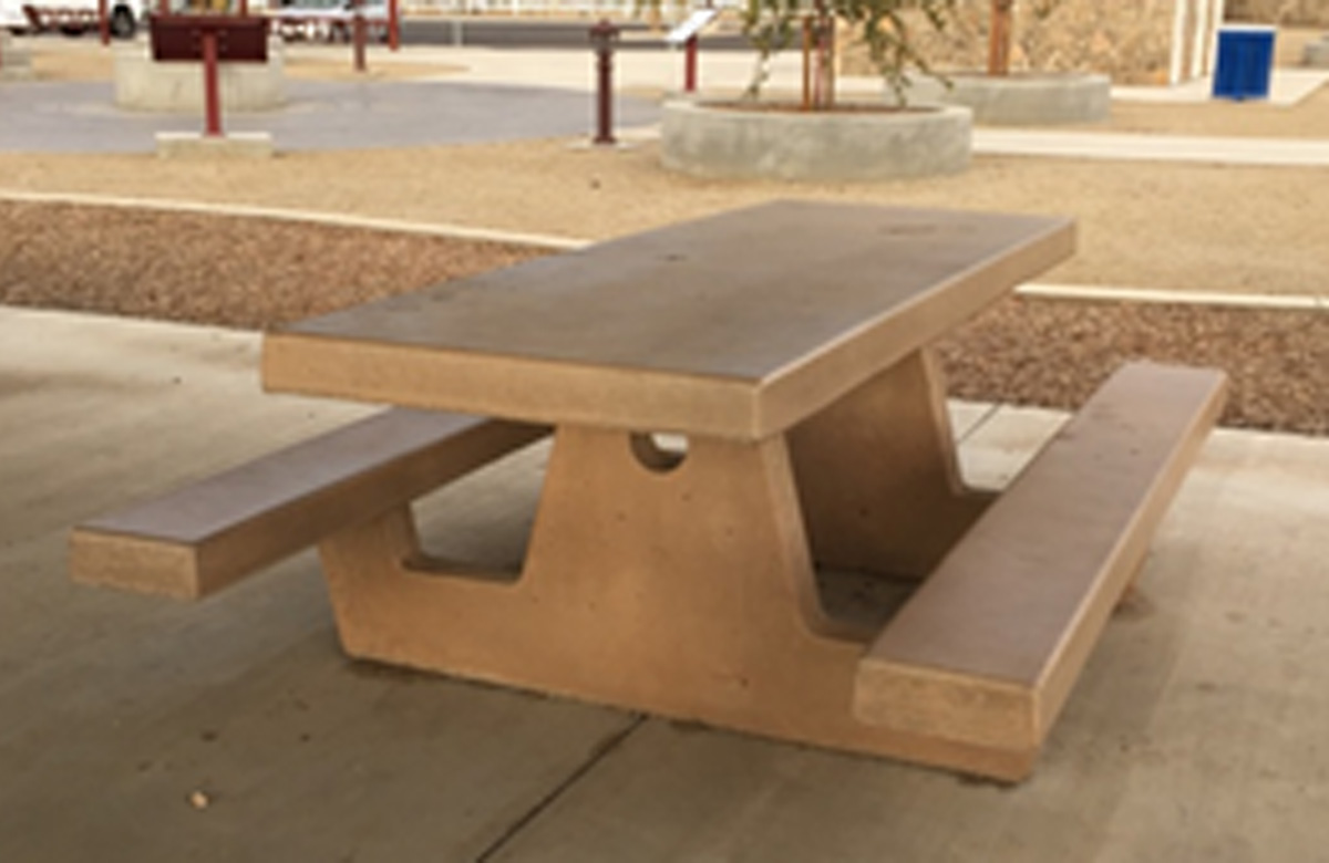 Beau Cement Picnic Table 6. CPT 6 CPT 6