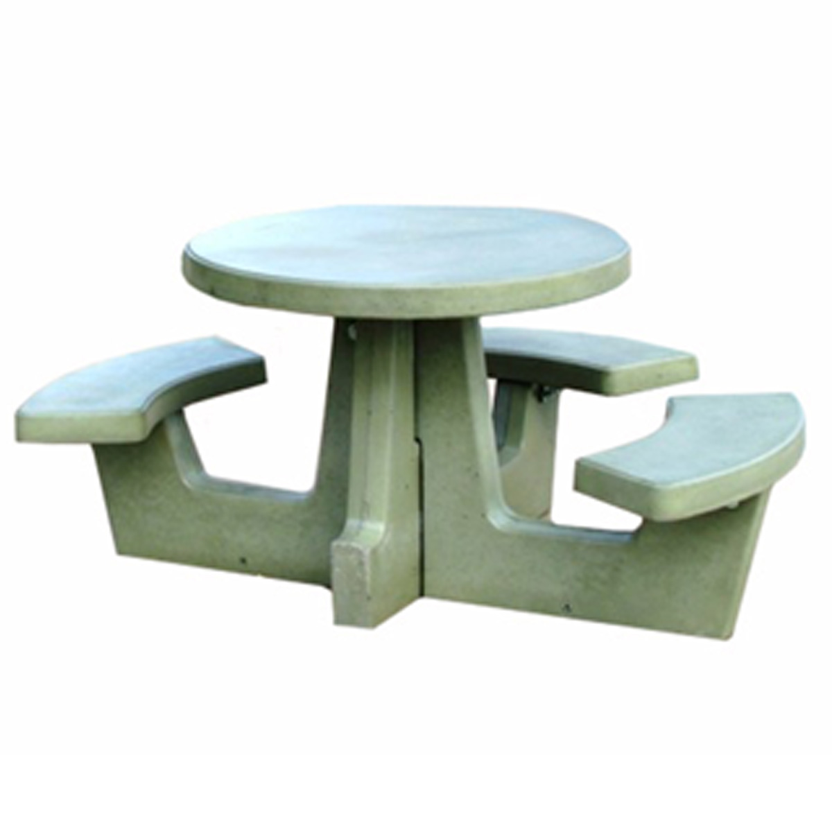 Cement Tables Cement Round Picnic Table